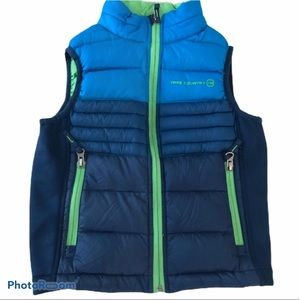Free Country Blue Green Down Vest EUC